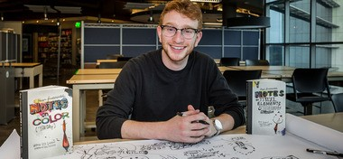 While enrolled as a Kean University student, Colonia senior Max Friedman became the published author, lead illustrator, and designer of three books on design - two of which are currently on the shelves and in classrooms. (courtesy photo)