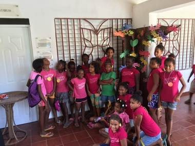 Some of the girls in the Mariposa Foundation in the Dominican Republic. (Alexandra Paulyson)