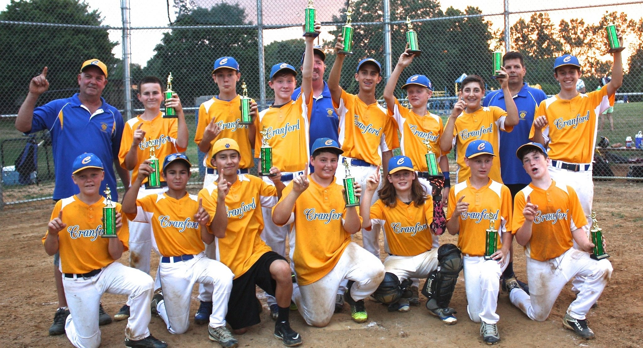 Cranford 13u Baseball Team Wins New Providence Green League Championship Nj Com