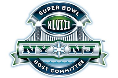 Logo of the NY/NJ Super Bowl Host Committee, which is responsible for organizing the upcoming championship game at MetLife Stadium