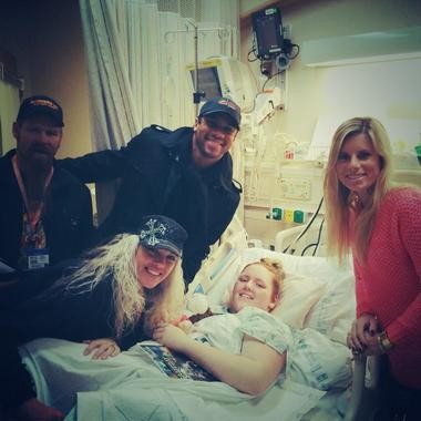 Russell Wilson visited Seattle-area resident, Sierra Semanko, at Seattle Children's Hospital in early December.