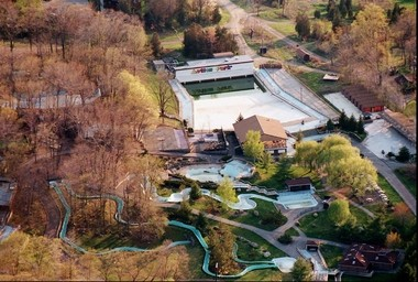 An aerial shot of Action Park, taken in 1996.