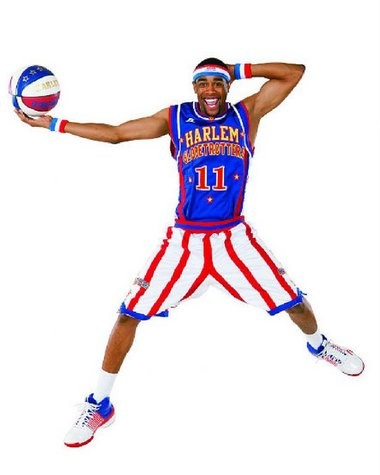 """Marlton native Brawley """"Cheese"""" Chisholm will be playing tomorrow with the Harlem Globetrotters at the Sun National Bank Center in Trenton."""