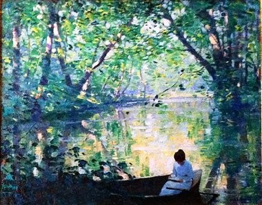 """Allen Dean Cochran's """"Lady in the Lake"""" is part of the exhibition """"Artists of Woodstock: Collective Creativity"""" at the Trenton City Museum at Ellarslie."""