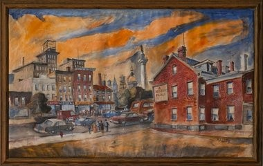 "Thomas Malloy's painting ""Untitled (A Historic Place) is part of the exhibit ""Trenton Then and Now: Contemporary Views"" at the Trenton City Museum at Ellarslie."