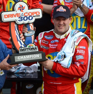 NASCAR Nationwide Series driver Tony Stewart won the DRIVE4COPD 300 2013 at Daytona International Speedway in Daytona Beach, Fla.