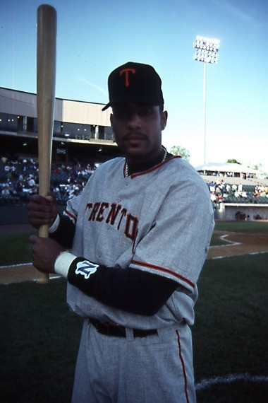 Tony Clark was a huge hit with the fans in the Trenton Thunder's inaugural 1994 season.