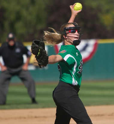 Sara Medders pitches for Robbinsville Tuesday in the Little League World Series in Portland, Ore.