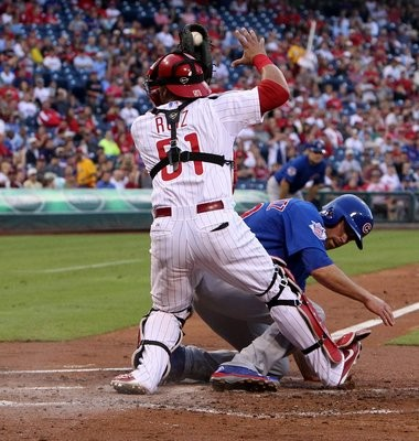 The Phillies' catching situation will be in flux with Carlos Ruiz, left, turning 35 this winter.