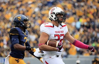 """Texas Tech tight end Jace Amaro lined up in the slot """"99 percent"""" of the time, so how good he is as a tight end is up for debate."""