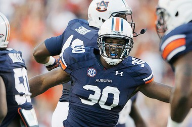 Our scout believes Auburn's Dee Ford might be just a rush guy at the next level.