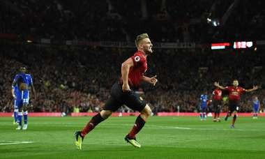 Luke Shaw's first senior goal was the winner Friday, in Manchester United's 2-1 win over Leicester City.