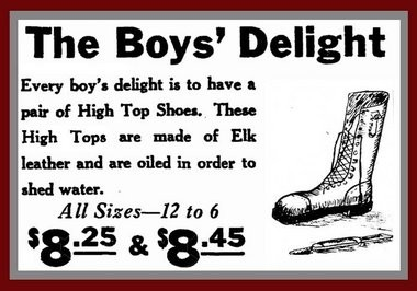An old shoe advertisement