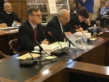 NJ Transit Executive Director Steven Santoro, right, testifies , to a state legislative committee Friday. (Larry Higgs   NJ Advance Media for NJ.com)