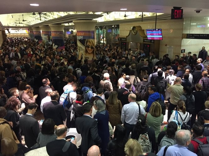 An out-of-service escalator compounded the regular rush hour crowding at Penn Station New York on Wednesday afternoon, which was later complicated by a 20-minute delay. (Larry Higgs | NJ Advance Media for NJ.com)