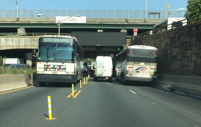 Major closure near Lincoln Tunnel on Rt  495 in N J  starts