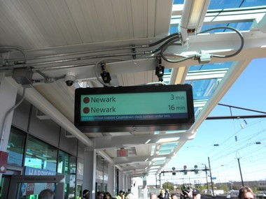 Countdown clocks similar to this one will be installed in all PATH stations next year.