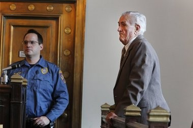 Charles Casiere , 85, right, appears in Superior Court where he admitted drinking and then striking with his car Patricia Currie a 68-year-old nurse in Westfield. Currie later died.