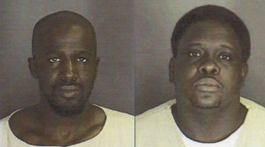 Louis Adams, left, and Kenneth Green, were sentenced to 50 years in prison for the attempted armed robbery of an off-duty Newark police officer.