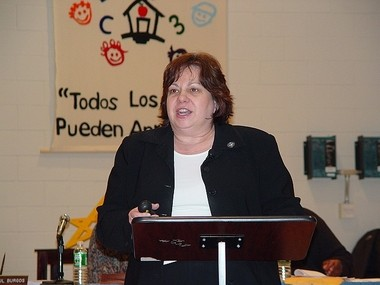 """Susan Albertson-Mettlen, the Elizabeth school district's former head of information systems and technology, pictured in 2008. An administrative law judge called her testimony in an ethics proceeding against a city schools assistant superintendent """"evasive, and riddled with inconsistencies and illogical assertions."""""""