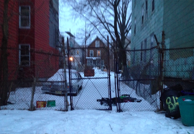 The vacant lot at 810 S. 17th Street in Newark was purchased by a Kean University fraternity, whose brothers hope to build a house for a homeless family. (Tosin Oduwole, Iota Phi Theta)