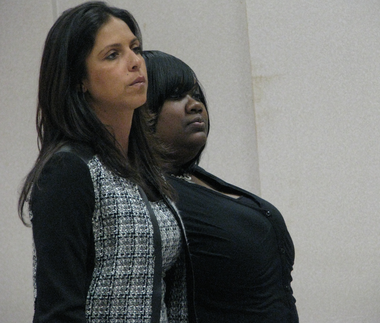 Former Union County juvenile officer Sherrie Brown-Braswell, right, appeared in court in March with her attorney, Brooke Barnett. (Tom Haydon | NJ Advance Media for NJ.com)