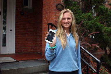 Oak Knoll School of the Holy Child senior Grace Nydam created a smartphone app for Oak Knoll students. Oak Knoll School of the Holy Child senior Grace Nydam created a smartphone app for Oak Knoll students.