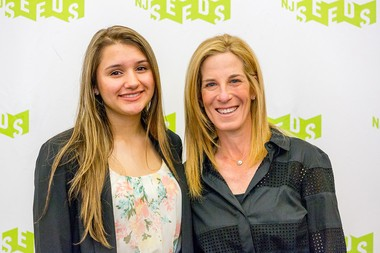 Isabella Pabon, a student at Roselle Park High school, with and Gayle Wieseneck, NJ SEEDS Trustee, at the SEEDS College Scholars Program graduation. Pabon will attend the University of Pennsylvania in the fall.