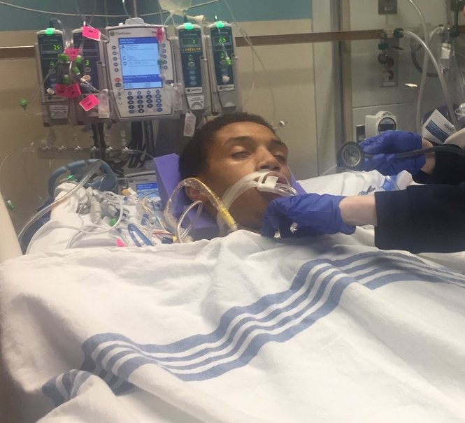 18-year-old Najeeir Tapia has undergone 7 emergency surgeries, two of which were on his heart and lung. (courtesy of Emelia Tapia)