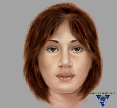 """The latest sketch of the New Jersey State Police released Thrusday shows what the """"Tiger Lady"""" must have looked like at the time of her death in 1991."""