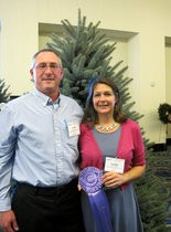 John and Leslie Wyckoff in front of their winning tree at the competition, which took place in Arlington, Va.