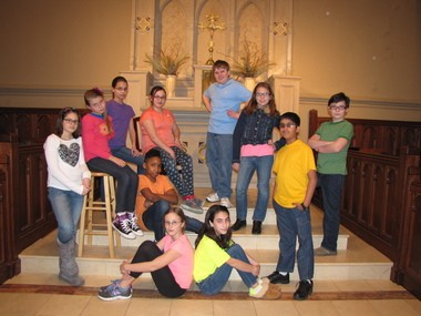 """Members of the Children's Chorus of Sussex County Concert Choir recorded """"Earth Day Anthem"""" in recognition of the 45th annual celebration of Earth Day. Pictured (back row, from left) are: Madeleine Schuman, Mikayla Caruso, Garrett Vanni, Carly Sarisky; (center row) Eszter Hiscott, Makani Bennett, Sammy Garcia; (front row) Ashley Ingoglia, Katrin Schumacher, Jaden Rittweger, Adarsh Varghese. (courtesy photo)"""