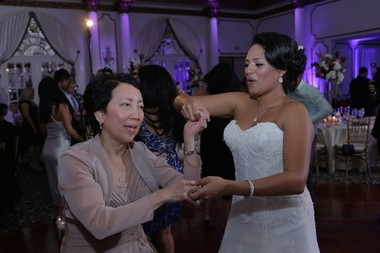 Natalie Quiles dances with her mother-in-law Cristina Santos. (Absolute Celebrations)