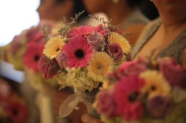 'We were very open and took ideas from the florist and incorporated them with our own,' Natalie Quiles said. (Absolute Celebrations)