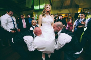 """""""Luckily, since no one knows much about gay weddings, whatever we came up with wasn't met with any criticism or fear,"""" Jessica Binns said. (George Koroneos/GLK Creative)"""