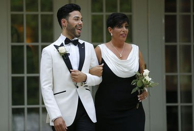 Luis Miller is walked down the aisle by his mother Lori Ann. (John Munson | NJ Advance Media for NJ.com)