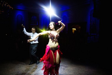 Leydi Hernandez and Ashraf Habib hired professional belly dancer, Aisha, to perform at their lavish celebration at the Estate at Florentine Gardens. (Asya Photography)