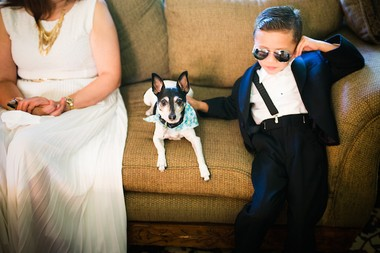 Leydi Hernandez and Ashraf Habib's ring bearer Nicholas Bedoya. (Asya Photography)