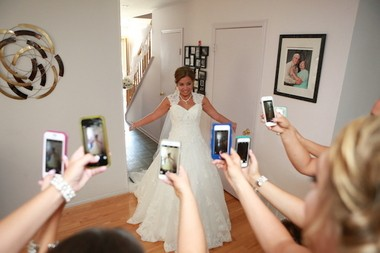 Christina McNulty prepares for her wedding with her bridesmaids. (Absolute Celebrations)