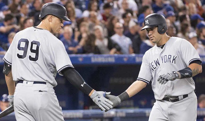 55108d96 How Yankees' Aaron Judge, Gary Sanchez's 1st 100 games compare to franchise  greats
