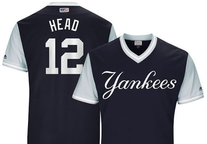 official photos c1575 a6da8 What nicknames will Yankees wear on alternate uniforms ...