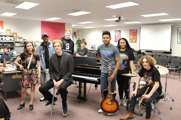 Brockett Parsons, Lady Gaga's keyboardist, worked with over 250 Summit High School students through the inaugural grant of the Arthur C. McCann Speaker Series. (courtesy photo)
