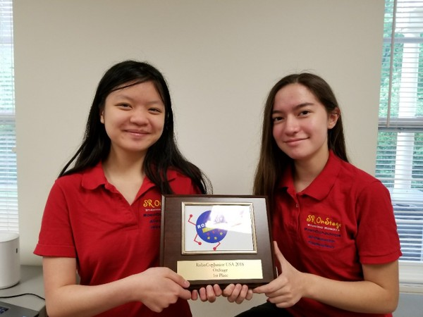 Susan Lee, a home schooler from Basking Ridge, and Michelle Bryson from Princeton High School will be taking part in RoboCupJunior 2018. (courtesy photo)