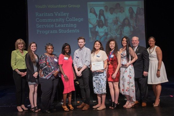 The students of Raritan Valley Community College's award-winning Service Learning Program have been honored with the 2018 New Jersey State Governor's Jefferson Award for their extraordinary volunteer service to the community. (courtesy photo)