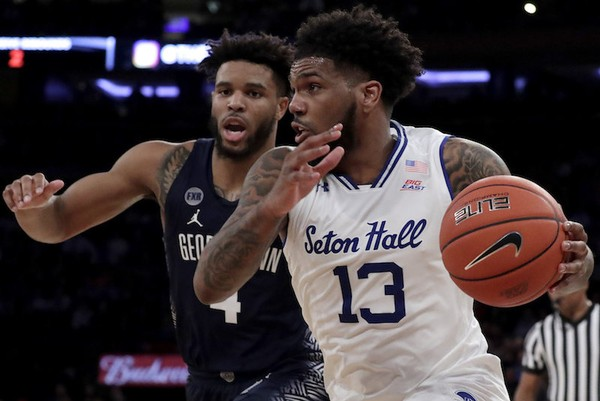 Seton Hall guard Myles Powell will lead Seton Hall against Marquette in a Big East semifinal on Friday. (AP Photo | Julio Cortez)