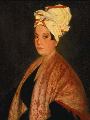 Marie Laveau, circa 1920s, oil on canvas by Frank Schneider after George Catlin.