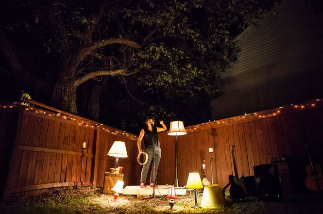 The Bring Your Own storytelling series offers seven people the chance to tell one story in seven minutes based on a theme in various locations around New Orleans. (Photo by Claire Bangser)