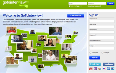 The website for the Gotointerview job placement service.