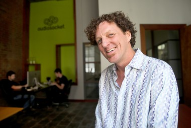 Brent McCrossen, co-founder and CEO of Audiosocket, in the New Orleans headquarters for the digital music rights management company in September 2013.