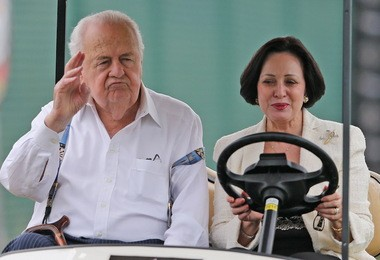Tom and Gayle Benson during Saints training camp at the Greenbrier in White Sulphur Springs, West Virginia on Monday, August 10, 2015. (Photo by Michael DeMocker, NOLA.com | The Times-Picayune)